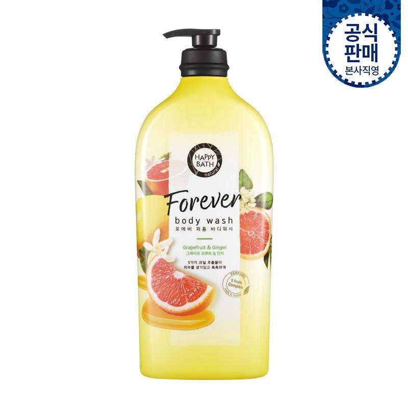 Гель для душа укрепляющий с экстрактом грейпфрута и имбиря Happy Bath Forever Grapefruit & Ginger Perfumed Body Wash 900ml 0 - Фото 1
