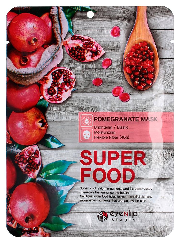 Маска тканевая для лица с экстрактом граната Eyenlip Super Food Pomergranate Mask Гранат, 23ml 0 - Фото 1