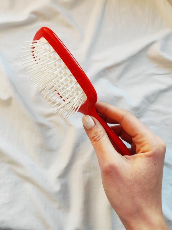 Расческа для волос красный с белым Janeke Superbrush 4 - Фото 4