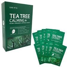 Маска Успокаивающая С Маслом Чайного Дерева SOME BY MI Tea Tree Calming Glow Luminous Ampoule Mask 10ea