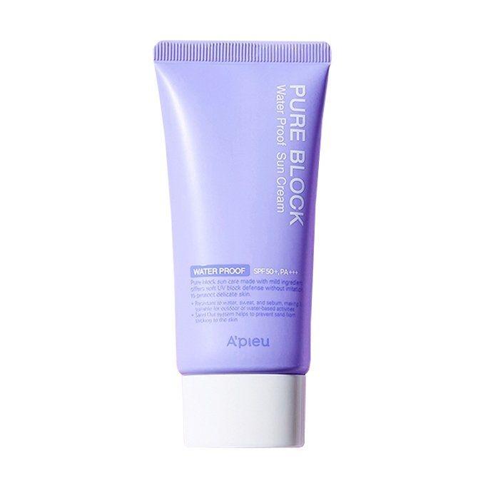 Солнцезащитный крем водостойкий с экстрактом персика A'PIEU Pure Block Natural Waterproof Sun Cream SPF50+/PA+++ 50ml 2 - Фото 2