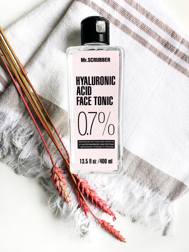 Тоник для лица з гиалуроновой кислотой Mr.Scrubber Hyaluronic Acid Face Tonic 0,7%, 400ml 1 - Фото 2
