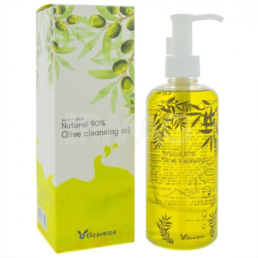 Гидрофильное Масло Увлажняющее С Экстрактом Оливы Elizavecca Natural 90% Olive Cleansing Oil 300ml