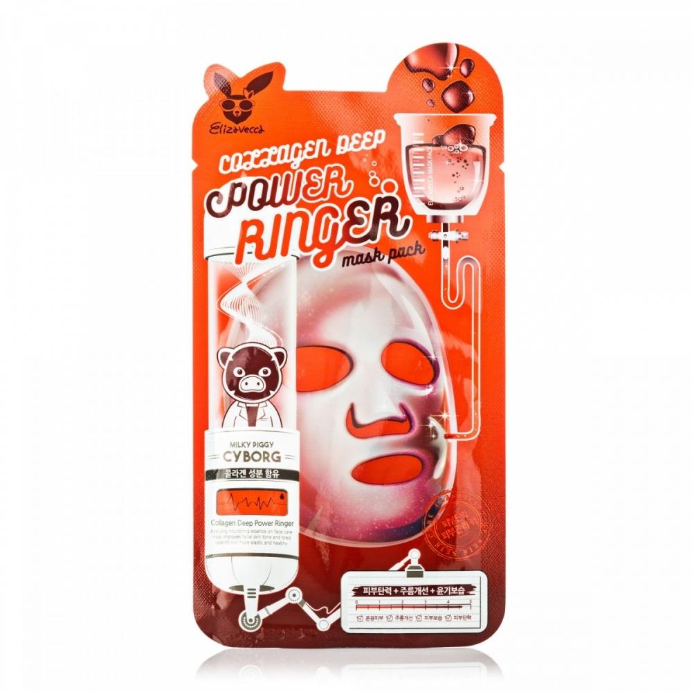 Маска омолаживающая с коллагеном Elizavecca Collagen Deep Power Mask Pack 23 ml 2 - Фото 2