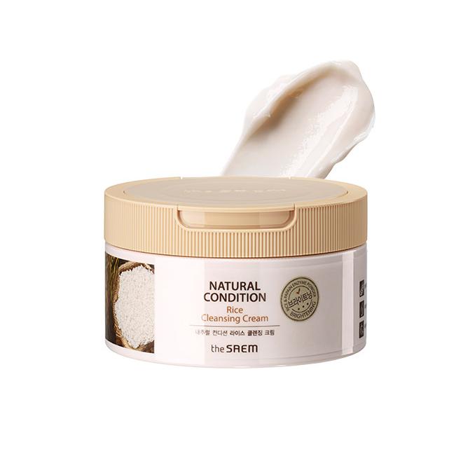 Крем очищающий с экстрактом рисовых отрубей The Saem Natural Condition Rice Cleansing Cream 300ml 1 - Фото 2