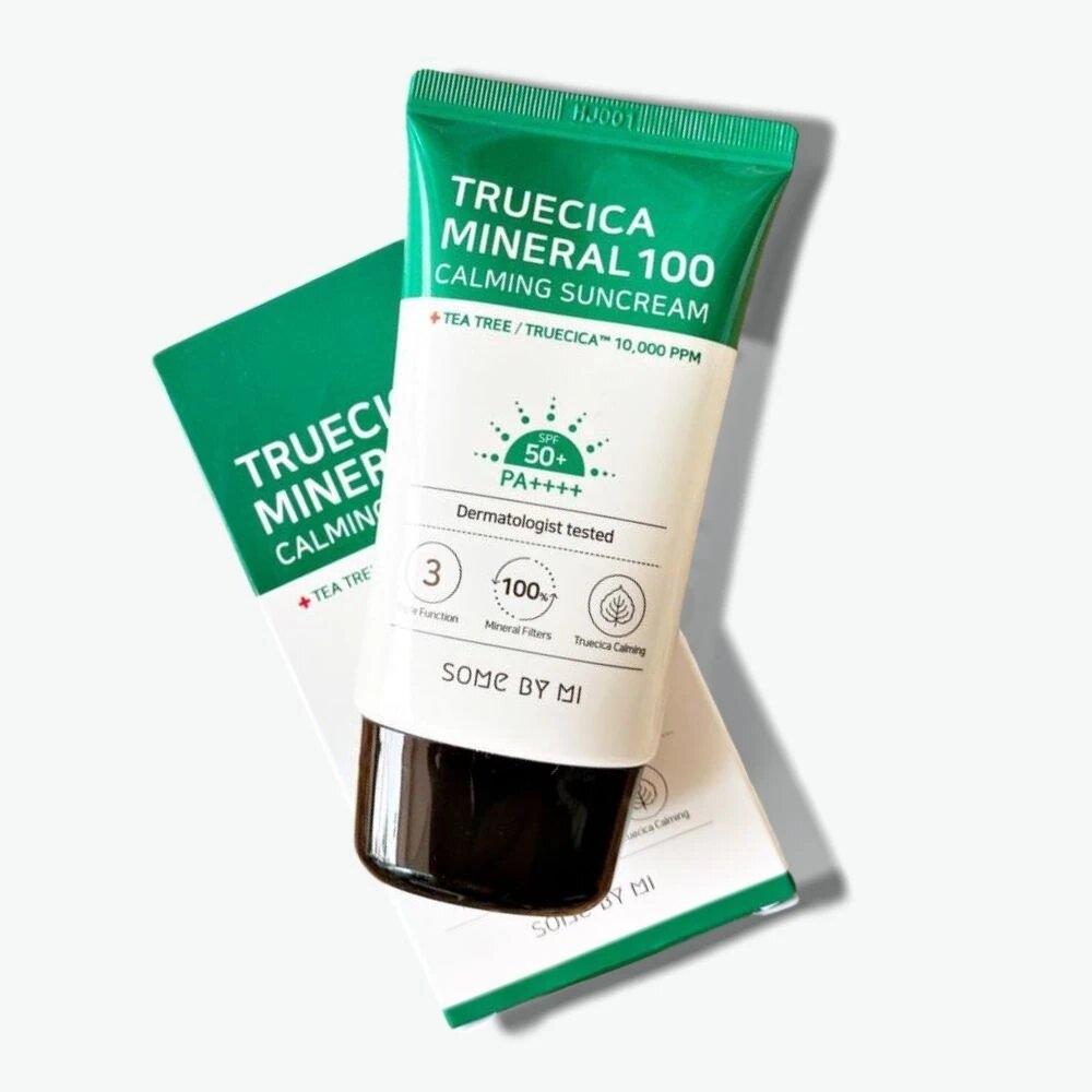 Солнцезащитный крем для чувствительной и проблемной кожи SOME BY MI Truecica Minera 100 Calming Suncream SPF 50PA++++ 50ml 0 - Фото 1