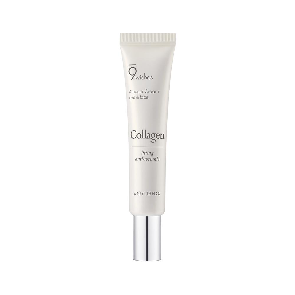 Антивозрастной ампульный крем для век с коллагеном 9Wishes Collagen Ampoule Eye & Face Cream 40ml 2 - Фото 3