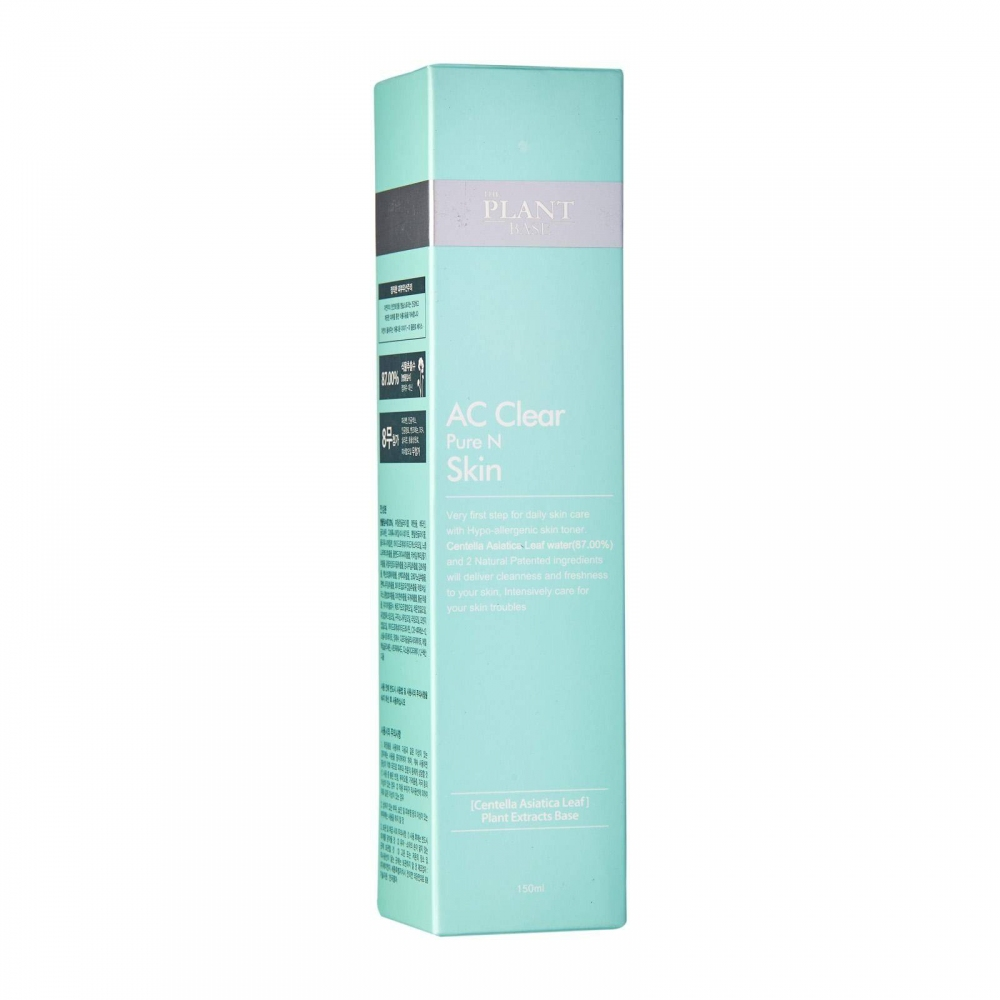Тонер Успокаивающий С Экстрактом Центеллы Для Проблемной Кожи The Plant Base AC Clear Pure N Skin 150ml 1 - Фото 2