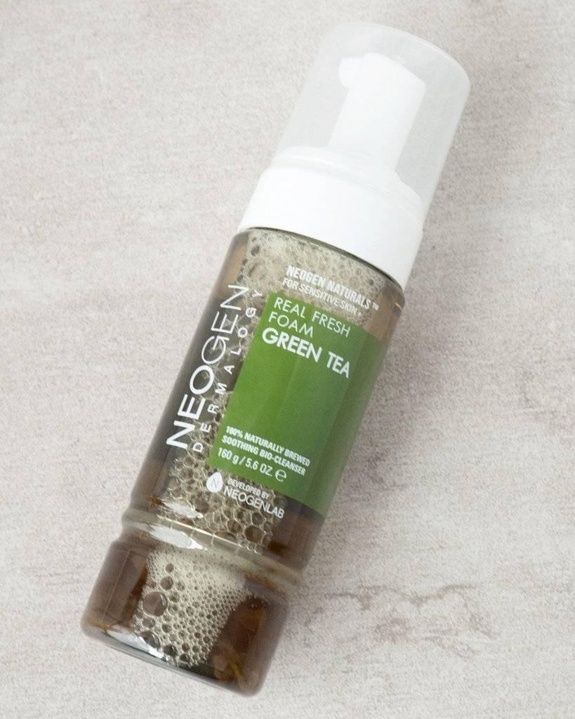 Органическая Пенка-Мусс Для Умывания С Зеленым Чаем Neogen REAL FRESH FOAM #Green Tea  0