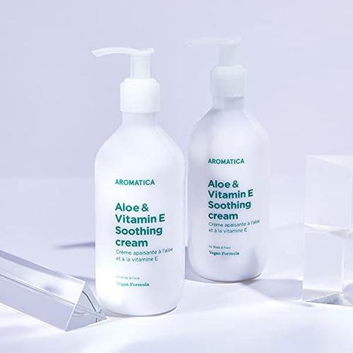 Успокаивающий крем для чувствительной кожи тела Aromatica Aloe & Vitamin E Soothing  Cream 300ml 0 - Фото 1