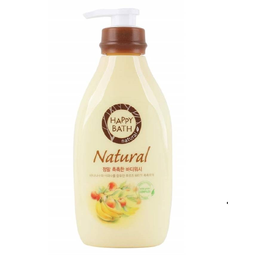 Гель Для Душа Витаминизированный Happy Bath Natural Real Moisture Body Wash Gel 900ml 0 - Фото 1
