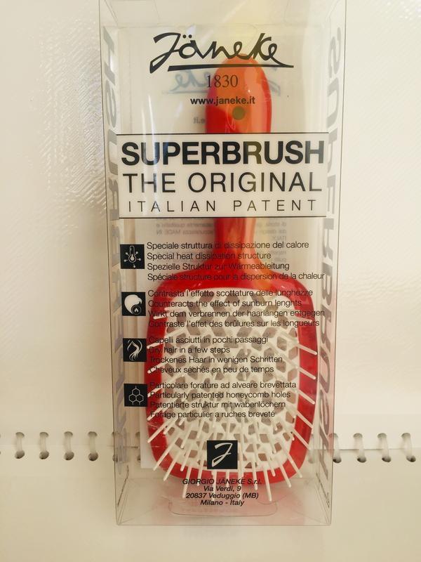 Расческа для волос красный с белым Janeke Superbrush 3 - Фото 3