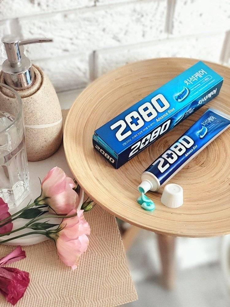 Отбеливающая Зубная Паста С Экстрактом Коры Дуба 2080 Advance Blue Toothpaste Scrub Essence 120ml (синяя упаковка)) 0 - Фото 1