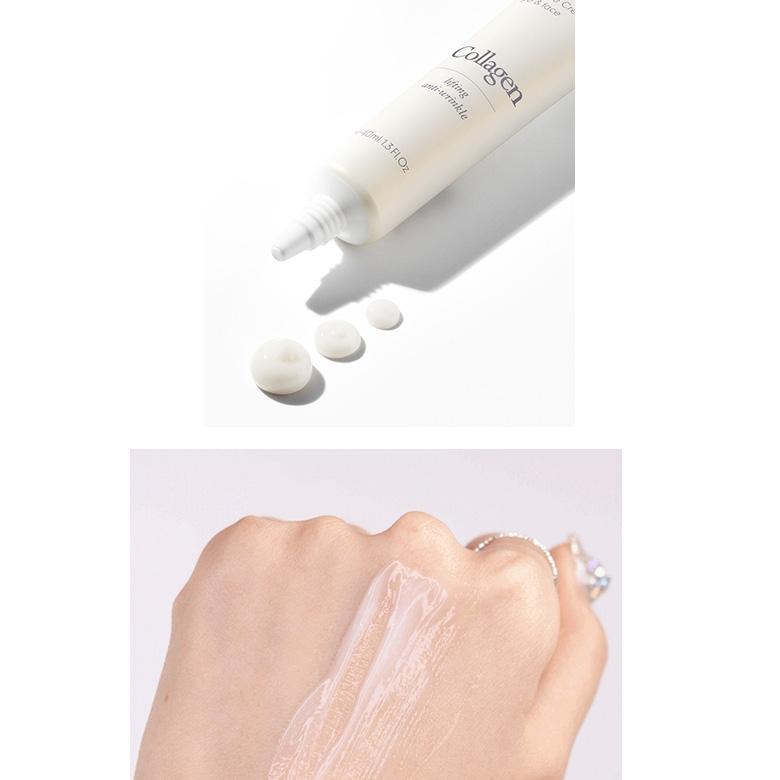 Антивозрастной ампульный крем для век с коллагеном 9Wishes Collagen Ampoule Eye & Face Cream 40ml 1 - Фото 2