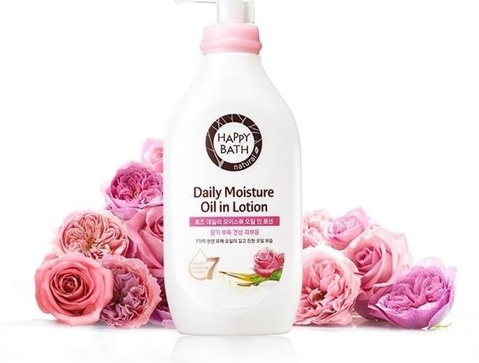 Лосьон увлажняющий с маслом розы Happy Bath Daily Moisture Oil in Lotion Rose 450ml 0 - Фото 1
