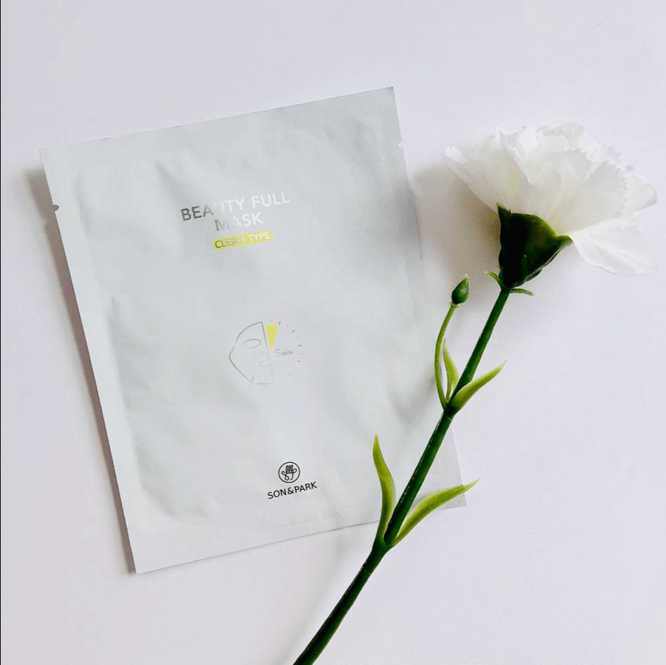 Маска Тканевая Очищающая С Экстрактом Центеллы Son & Park Beauty Full Mask Clean 25 ml  1 - Фото 2