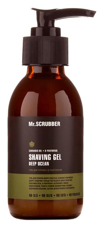 Гель для бритья с Д-пантенолом Mr.Scrubber Shaving Gel Deep Ocean, 125ml 0 - Фото 1