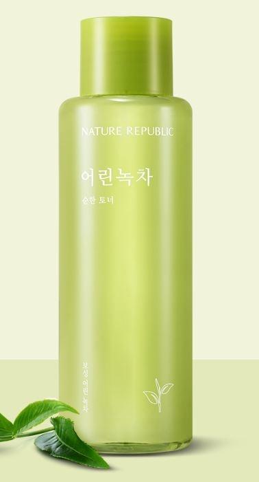 Успокаивающий тонер с экстрактом зеленого чая Nature Republic Young Green Tea Mild Toner 155ml 0 - Фото 1