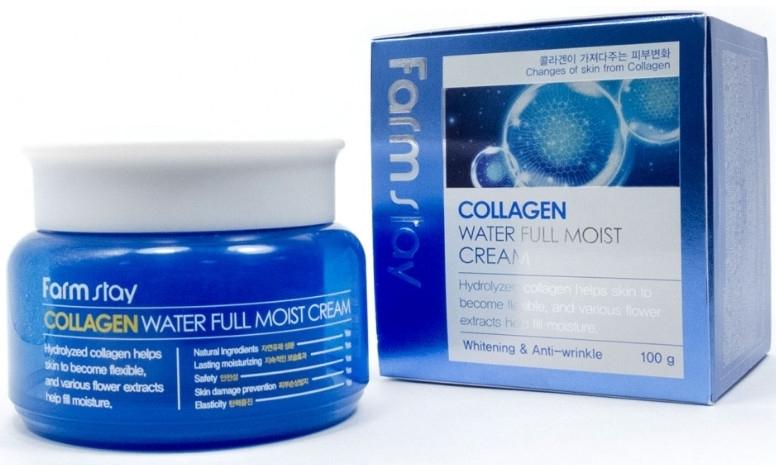 Крем коллагеновый омолаживающий для лица с цветочными экстрактами FarmStay Collagen Water Full Moist Cream 100g 0 - Фото 1