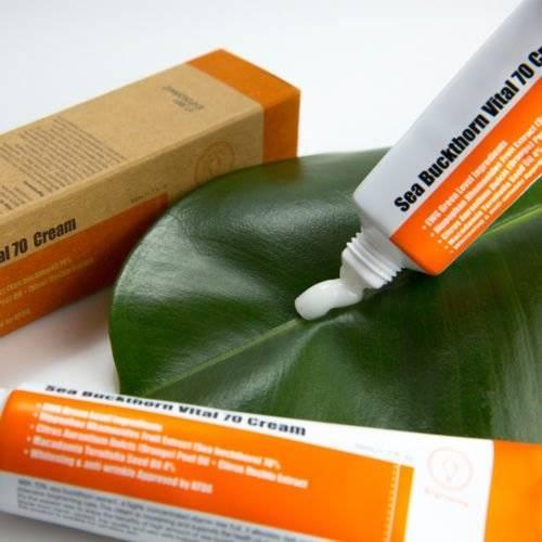 Крем витаминный для сияния и восстановления кожи на основе экстракта облепихи PURITO Sea Buckthorn Vital 70 Cream 50ml 1 - Фото 2