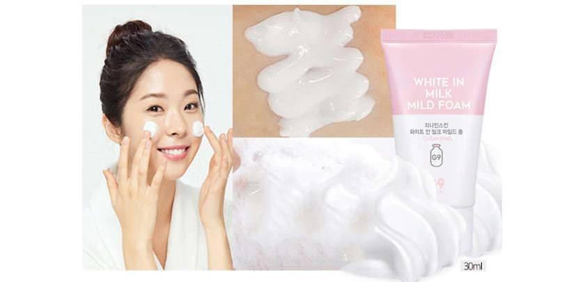 Нежная Очищающая Пенка С Молочными Протеинами И Комплексом Кислот G9 White In Mild Foam 0