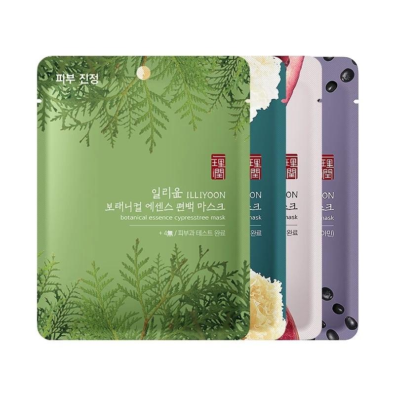 Маска тканевая освежающая для лица с экстрактом кипариса ILLIYOON Botanical Essence Cypress Tree Mask 23g 0 - Фото 1