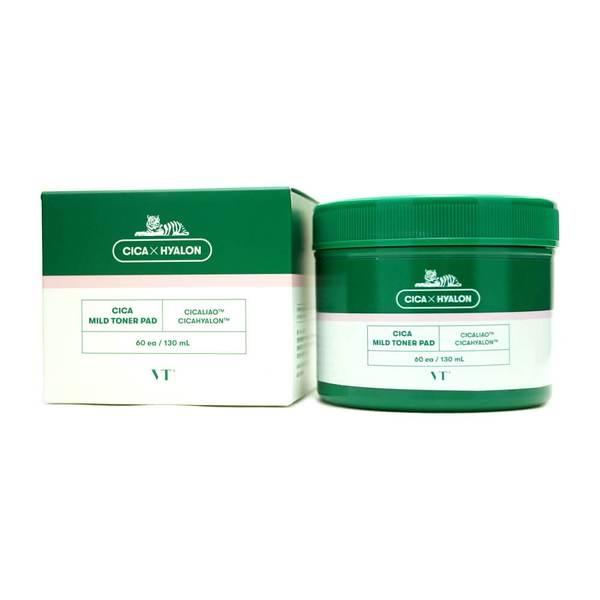 Тонер-пэды успокаивающие с экстрактом центеллы VT Cosmetics Cica Mild Toner Pad 60ea, 130ml 0 - Фото 1