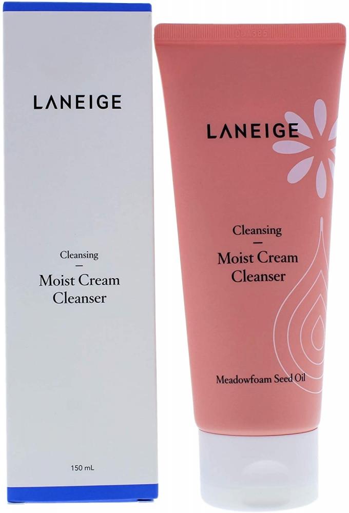 Пенка Для Умывания Увлажняющая С Экстрактом Лугового Пенника Laneige Moist Cream Cleanser 150ml 0 - Фото 1