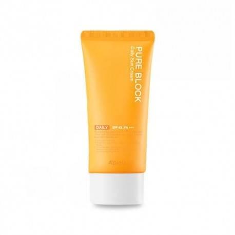 Крем Солнцезащитный Увлажняющий Натуральный A'pieu Pure Block Daily Sun Cream Daily SPF45 PA+++