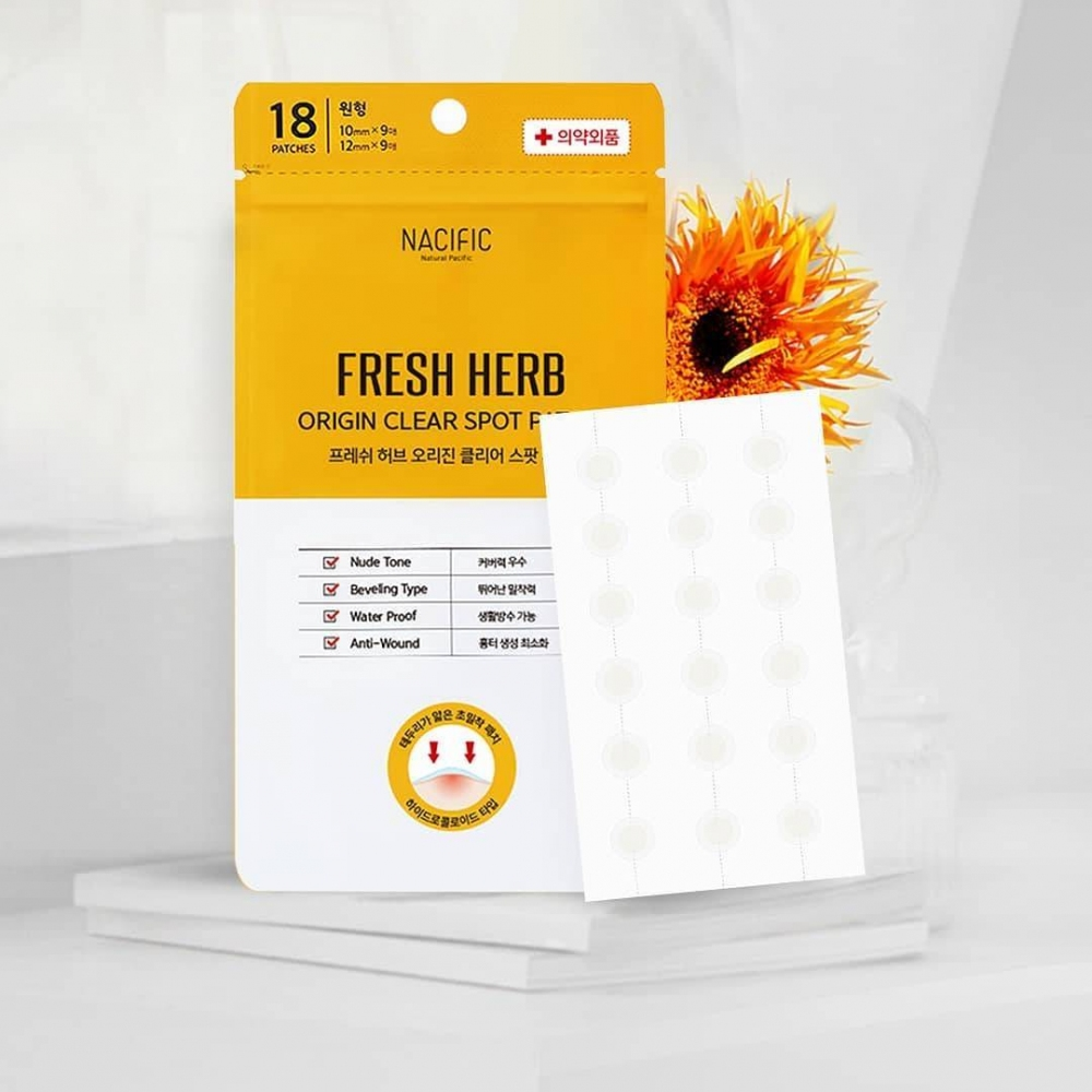 Патчи Для Точечного Лечения  Прыщей Nacific Fresh Herb Origin Clear Spot Patch  0 - Фото 1