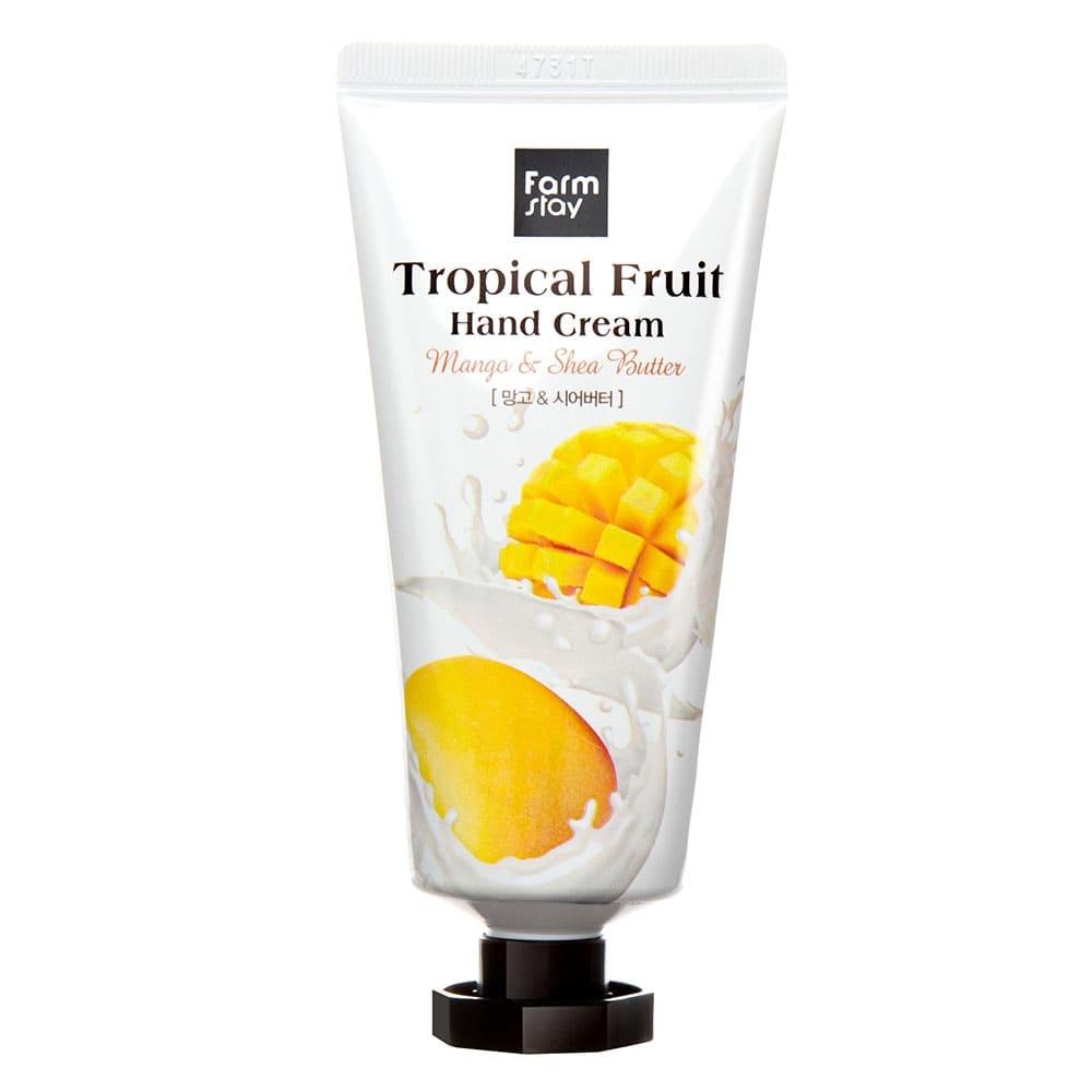 Крем для рук увлажняющий с экстрактом манго и маслом ши FarmStay Tropical Fruit Hand Cream Mango & Shea Butter 50ml 0 - Фото 1