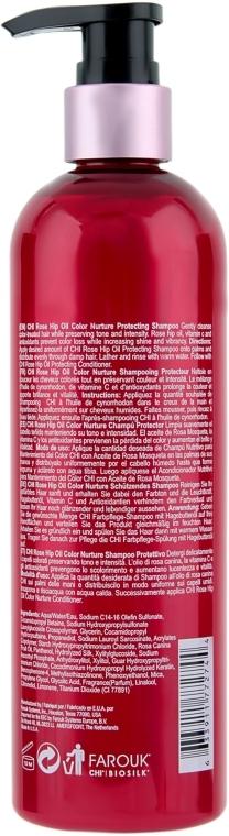 Шампунь защитный с маслом шиповника для волос CHI Rose Hip Oil Color Nurture Protecting Shampoo 350ml 2 - Фото 2