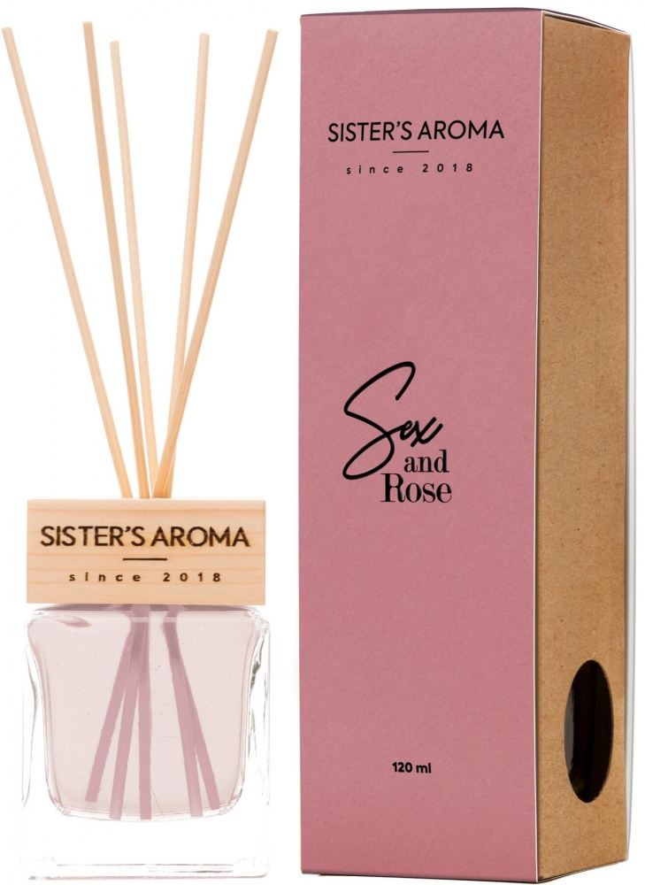Диффузор для дома и офиса с ароматом розы Sister's Aroma Reed Diffuser