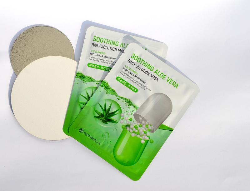 Тканевая маска для лица с алоэ вера Enough Bonibelle Soothing Aloe Vera Daily Solution Mask 23ml 2 - Фото 2