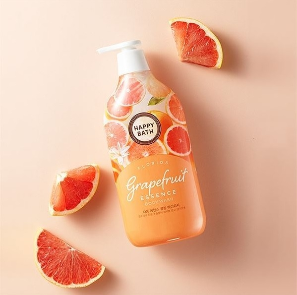 Гель для душа с экстрактом грейпфрута Happy Bath Grapefruit Essence Cooling Body Wash 1100ml 2 - Фото 2