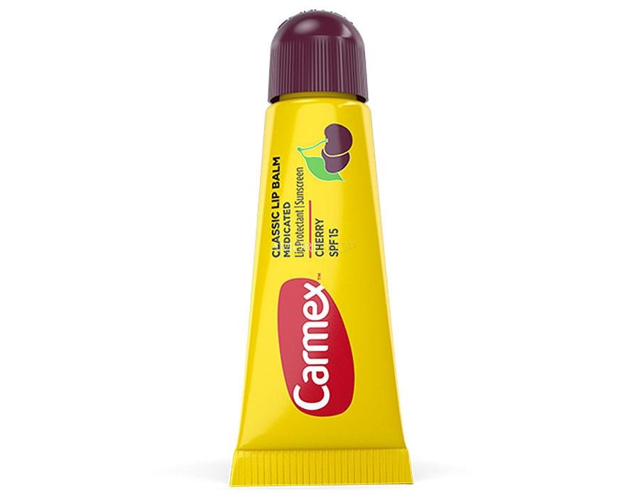 Бальзам лечебный с вишневым вкусом для губ Carmex Daily Care Lip Balm SPF 15 Cherry Tube 10g 0 - Фото 1