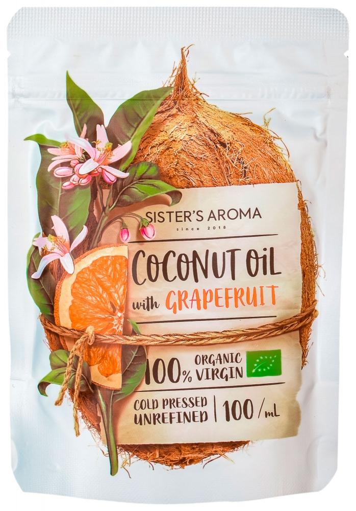 Кокосовое масло для волос и тела с эфирным маслом грейпфрута Sister's Aroma With Grapefruit 100ml 0 - Фото 1