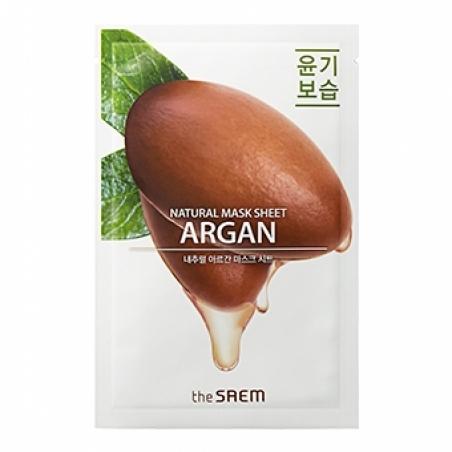 Маска тканевая питательная с экстрактом арганы The Saem Natural Argan Mask Sheet 20ml   0 - Фото 1