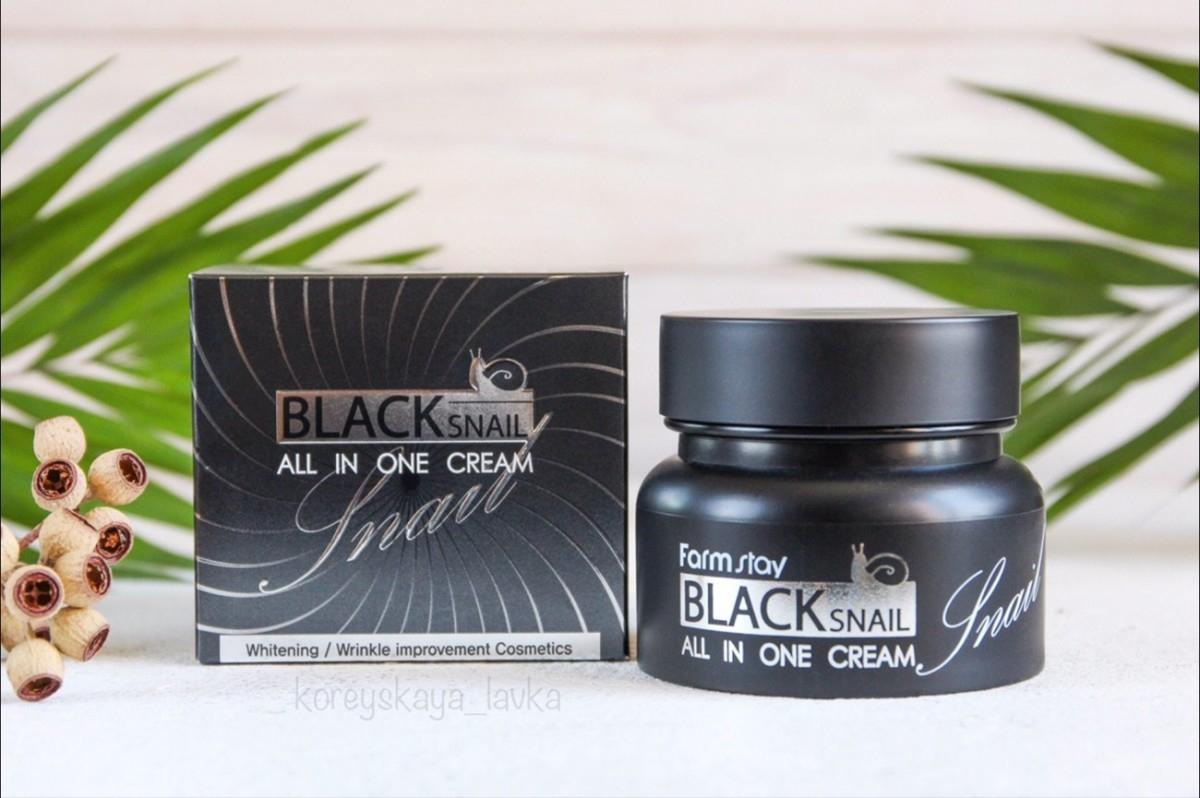 Крем для лица восстанавливающий антивозрастной с муцином черной улитки FarmStay All-In-One Black Snail Eye Cream 100ml 3 - Фото 3
