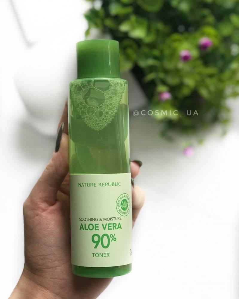Тонер Увлажняющий С Экстрактом Алое Nature Republic Soothing & Moisture Aloe Vera 90% Toner 160ml 3 - Фото 4