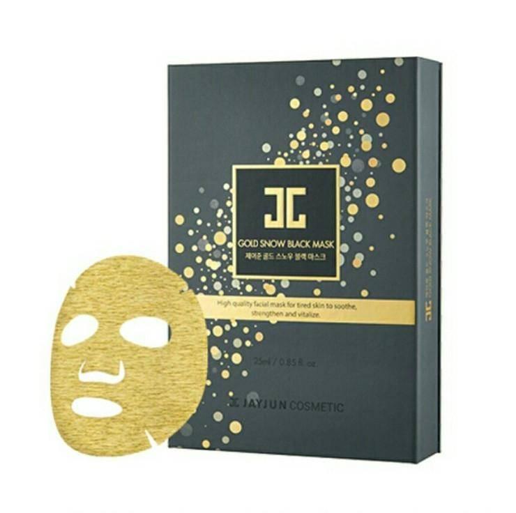 Маска Двухфазная Восстанавливающая С Коллоидным Золотом JayJun Gold Snow Black Mask