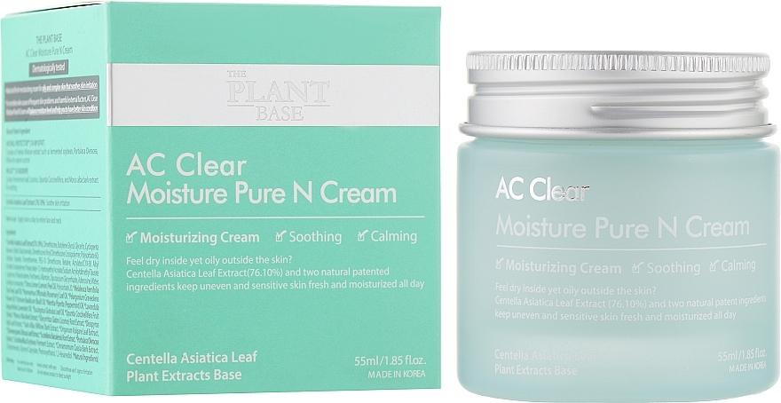 Крем Успокаивающий С Экстрактом Центеллы Для Проблемной Кожи The Plant Base AC Clear Moisture Pure N Cream 55ml 1 - Фото 2