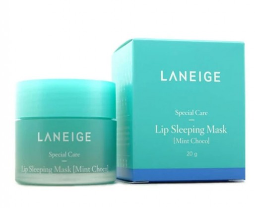 Бальзам-Маска Для Губ С Экстратом Мяты И Шоколада Laneige Lip Sleeping Mask Mint Choco 20g  1 - Фото 2