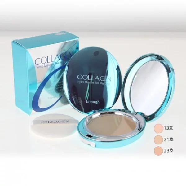 Пудра компактная увлажняющая для лица с коллагеном и сменным блоком Enough Collagen Hydro Moisture Two Way Cake SPF25 PA++ 26g