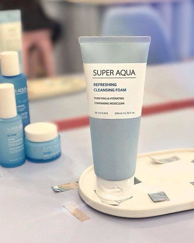 Пенка Для Умывания Увлажняющая Missha Super Aqua Refreshing Cleansing Foam 200ml