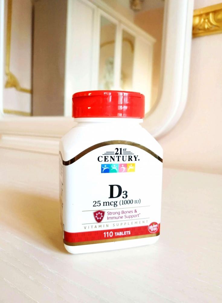 Пищевая Добавка Витамин D3 21st Century Vitamin D3 25 mcg 1 - Фото 2