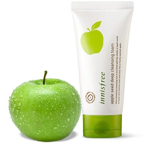 Освежающая пенка для умывания с экстрактом зеленого яблока Innisfree Apple Seed Cleansing Foam 150ml 0 - Фото 1