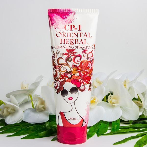 Шампунь укрепляющий с экстрактами восточных трав Esthetic House CP-1 Oriental Herbal Cleansing Shampoo 250ml 0 - Фото 1