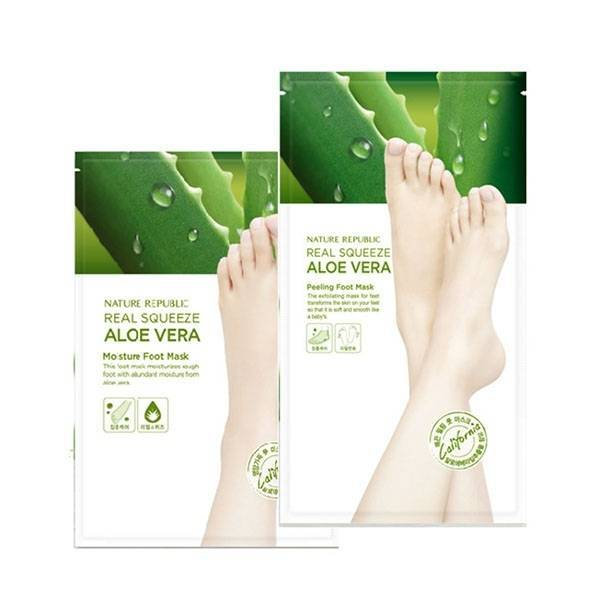 Маска Пилинг Для Ног С Экстрактом Алоэ Nature Republic Foot & Nature Aloe Peeling Foot Mask