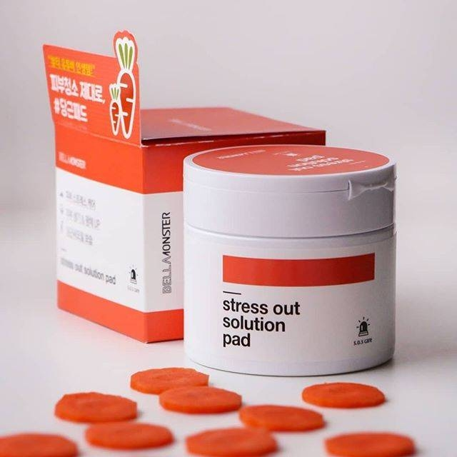 Тонер-пэды антистресс с экстрактом моркови BellaMonster Stress Out Solution Pad (70ea) 155ml 1 - Фото 2